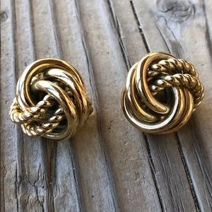 Givenchy RARE Vintage Gold Love Knot Earrings!